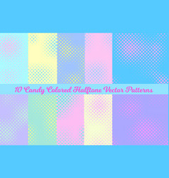 pastel color halftone square backgrounds vector image