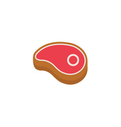 beef steak flat icon food drink elements vector image
