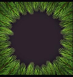 Christmas branches decor vector