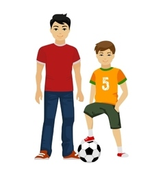 cute young guys boys Kids vector image vector image