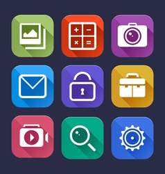 Flat App Icons Set vector image vector image