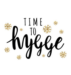hygge is a danish living concept vector image