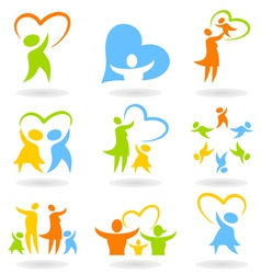 Icons a family4 vector image vector image
