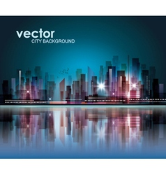 Modern Night Cityscape Background vector image vector image