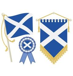 scotland flags vector image vector image