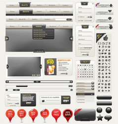 web design kit vector image vector image
