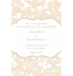 wedding card in retro design vector image vector image