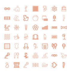 49 pattern icons vector image