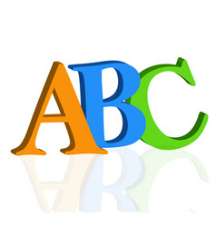 abc letters on white background vector image