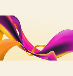abstract 3d liquid colorful shapes composition vector image