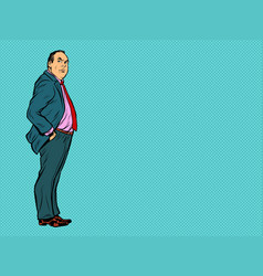 adult male businessman boss vector image