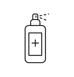 antibacterial spray bottle line style vector image