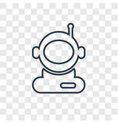 astronaut user concept linear icon isolated on vector image