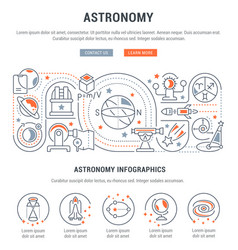 banner astronomy vector image