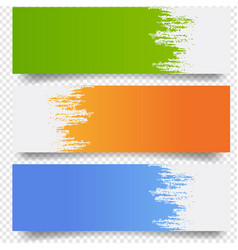banners set with blobs isolated transparent vector image