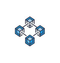 Blockchain icon block-chain concept symbol vector