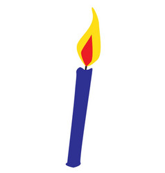 Blue cartoon candle vector