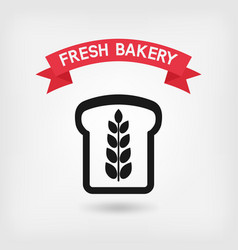 Bread symbol bakery sign vector