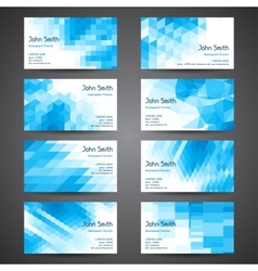 Business cards set with abstract geometric vector image