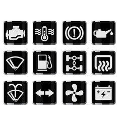 Car interface sign vector image