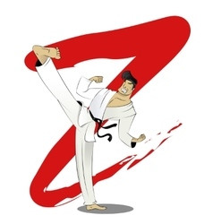 Cartoon of karate guy vector image