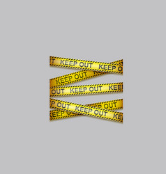 caution tape crossing warning ribbons vector image