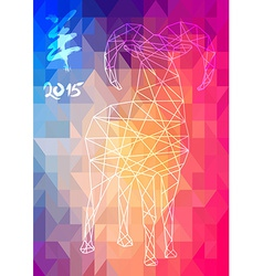 Chinese new year of the Goat 2015 abstract vector image