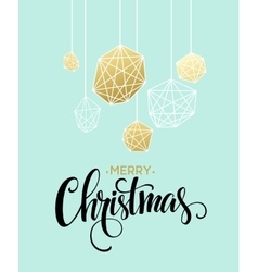 Christmas Greeting Card with handdrawn lettering vector image