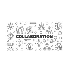collaboration concept outline vector image