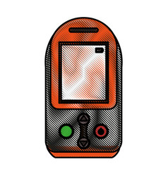 color blurred stripe tech generic gps device vector image