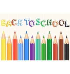 Colorful Colored Pencils set Realistic pencils vector image