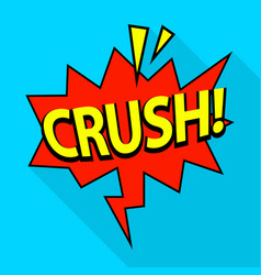 crush icon pop art style vector image