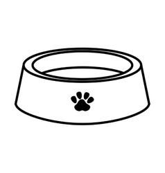 Dog dish element vector
