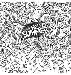 Doodles abstract decorative summer vector