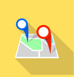 double map pin icon flat style vector image