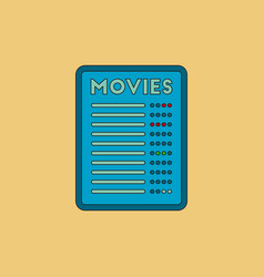 Film list in flat style moive vector