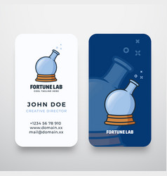fortune lab abstract logo and business card vector image
