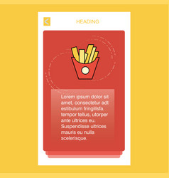 Fries mobile vertical banner design design vector