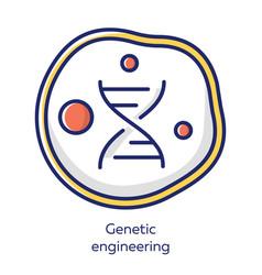 Genetic engineering white color icon genes vector