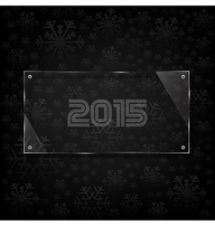 Glassy 2015 celebrate card vector