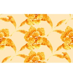 Golden Rose hand-drawn flower vector image
