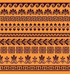 greek seamless pattern set - ancient design vector image