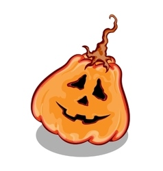 Halloween pumpkin with funny face expression vector