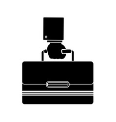 Hand with suitcase vector