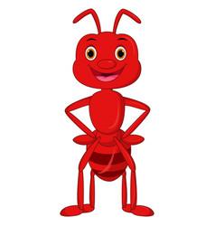 Happy ant cartoon vector