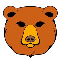 Head of bear icon cartoon vector