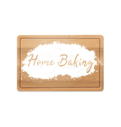 Home baking in flour vector