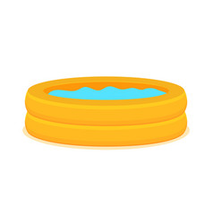 inflate backyard pool baplastic flat vector image