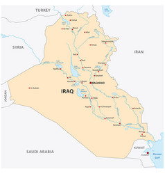 iraq map vector image