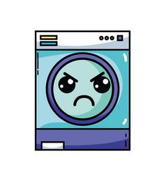 Kawaii cute angry washing machine vector